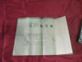 极少见6—70年代毛边本未裁  练字帖