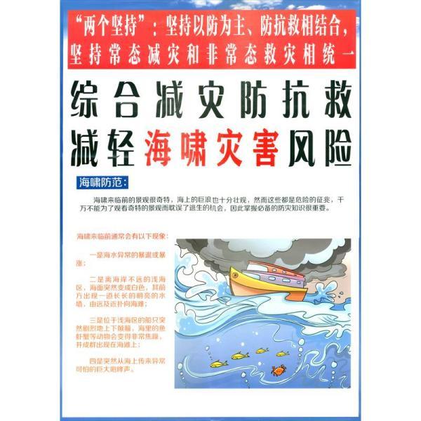 综合减灾防抗救,减轻海啸灾害风险