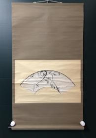 日本回流字画 原装旧裱 712   墨梅