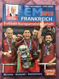原版足球画册 踢球者2016欧洲杯特刊(有破损)