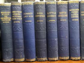 1930年左右 Works Of Charles Dickens 《狄更斯作品集》,15册,布面精装,英国伦敦出版,英文原版,内有大量版画插图