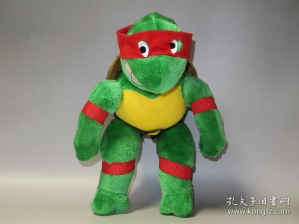 罕见1987年美国制造!忍者神龟毛绒玩具——拉斐尔