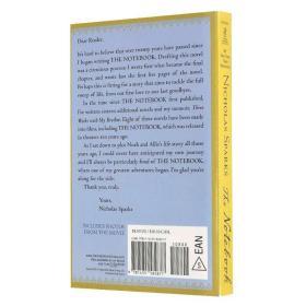 The Notebook 恋恋笔记本 英文原版 恋恋记事本 浪漫唯美爱情小说 Nicholas Sparks 尼古拉斯·斯帕克思 全英文版正版进口英语书籍