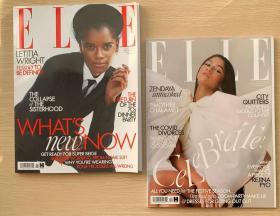 英国版 ELLE 2020年11+12月 2本打包女士时尚服饰服装英文杂志