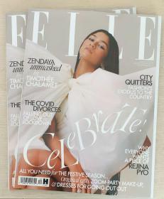 英国版 ELLE 2020年12月 女士时尚服饰潮流服装英文杂志