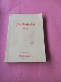 广州植物检索表(油印本)