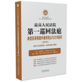 2020最高人民法院第一巡回法庭典型民商事案件裁判观点与文书指导 第1卷