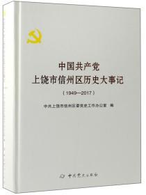 中国共产党上饶市信州区历史大事记(1949-2017)