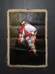 古玩收藏 手绘油画 画家:张利 人物画