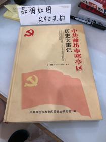 中共潍坊市寒亭区历史大事记
