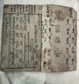 清代木刻线装本中医书《医学三字经》(卷3.4)