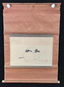 【日本回流】原装旧裱 佚名 国画作品《高僧图》一幅(纸本立轴,画心约1.6平尺,款识钤印:弌良之印)HXTX209739
