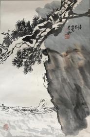 方增先《山水人物》曾任第五届全国人大代表、上海美术馆馆长、中国美术学院荣誉教授、上海市美术家协会主席、中国国家画院中国画院院长