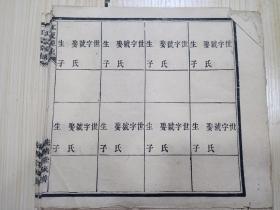 木刻本统绪堂族谱 20张合售(20张同样的)江夏源流