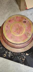 老捧盒、食盒、造型精美、做工大气、小磕碰、非常值得收藏。26-23cm