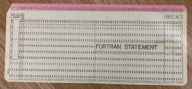 卡片 FORTRAN STATEMENT
