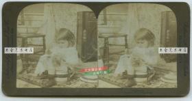 清末民国立体照片----1894年天真小女孩