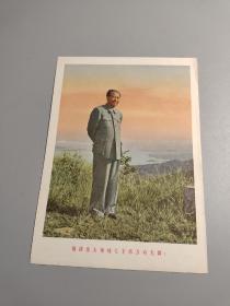 文革宣传画,毛主席像一副