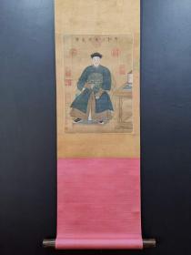 清,郎世宁,绢本张廷玉像27x38,老画,买家自鉴