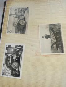 LN--392重型汽车转向研究实验现场留念(一批老照片)值得收藏