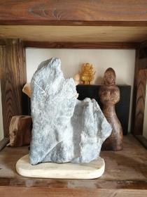 天然山形灵璧石摆件,带底座出售
