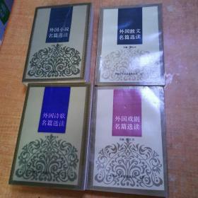 外国文学名篇选读丛书( 外国小说名篇选读、外国散文名篇选读、外国诗歌名篇选读、外国戏剧名篇选读,四册合售)