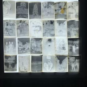 五十年代 人物风景底片一组24张h1