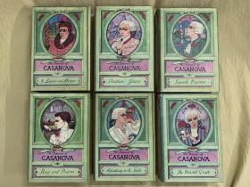The Memoirs of Jacques Casanova  卡萨诺瓦回忆录   6卷套 布面精装本,大量精美插图