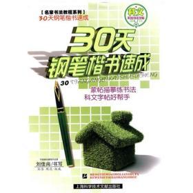 名家书法教程·基础教程系列?科文系列书法字帖:30天钢笔楷书速成
