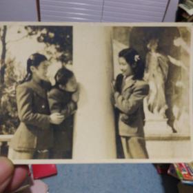 老照片《三姐妹》2.非常漂亮 应该是民国时期 年代自辨别 书品如图