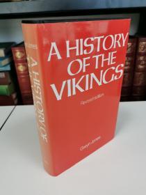 The Vikings  《维京人的历史》Gwyn Jones大作  牛津大学出版社 1984年 修订版 布面精装 品好近全新