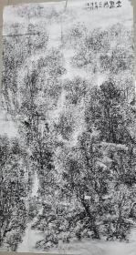 著名画家张复兴大幅山水画作品