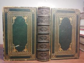 1859年  POETICAL WORKS OF THOMAS MOORE WITH A LIFE OF THE AUTHOR  烫金全皮装帧  三面刷金  插图版 16.7X11.2CM
