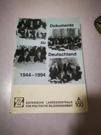 Dokumente zu Deutschland 1944-1994 关于德国的文件1944-1994 德文原版