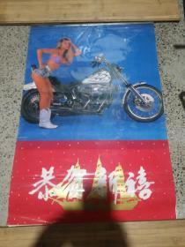 1994年外国美女摩托挂历
