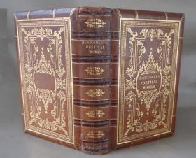 1836年POETICAL WORKS OF JAMES MONTGOMERY  《詹姆斯·蒙哥马利诗集》全小牛皮双面满堂烫金豪华装桢  铜版画插图
