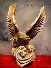根雕艺术,太行崖柏根雕,《雄鹰》《展翅高飞》《只识弯弓射大雕》,古色古香,雄浑大气,宏图大志,收藏佳品,可遇不可求的根雕艺术
