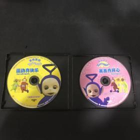 天线宝宝--(运动真快乐、画画真开心、生日快乐 )    VCD光盘三张  (光盘有轻微划痕)
