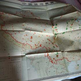 中国强地震震中分布图