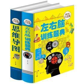 【精装全2册】左右脑训练题典+思维导图 全彩青少年版学习技巧记忆力专注力训练智力全脑开发6-9-12岁小学生逻辑思维简单入门书籍