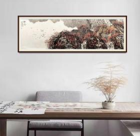 中美协会员,97百杰画家唐凤岐9平尺山水精品
