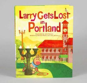 精裝 迪斯尼插畫家John Skewes Larry Gets Lost in Portland