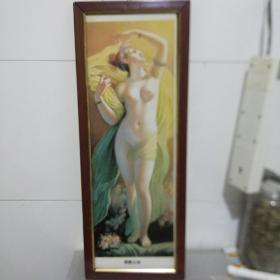 瓷板画 朝霞女神