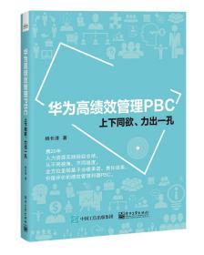 华为高绩效管理PBC:上下同欲、力出一孔