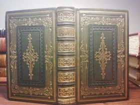THE POETICAL WORKS OF HENRY WADSWORTH LONGFELLOW  含8副钢板插图  烫金全皮装帧 三面刷金  16.8X10.5CM