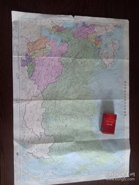 苏联地图。1992年版