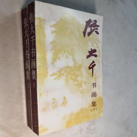 张大千书画集 上下册 32开 平装本 良知 金光 编  人民美术出版社 1993年1版2印 私藏 自然旧 全新品相