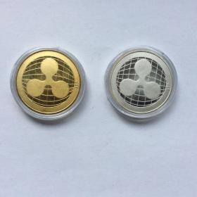 XRP币(银、金色)二枚合售