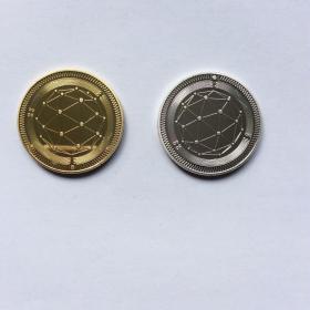 QTUM币(银、金色)二枚合售