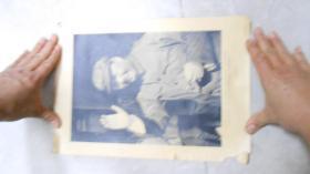 文革宣传画:毛泽东,毛主席语录(34.5*25cm,5张合售,8开大小)L2